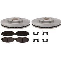 Jeep Liberty Rotor & Brake Pad kit 2003-2007 w/ ceramic pads and hardware REAR