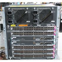 Cisco Catalyst WS-C4507R-E 7 Slot Chassis 2x WS-X45-SUP7L-E 5x WS-X4648-RJ45V+E