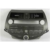 08-12 Honda Accord Radio Manual Climate Dash Bezel with Vents Stereo Controls