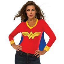 DC Superheroes Wonder Woman Sporty Tee Shirt With Cape Size Medium