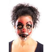 Creepy Transparent Harley Evil Clown Plastic Mask