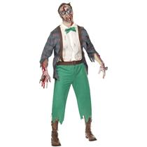 High School Horror: Zombie Geek Adult Costume Large Chest 42-44
