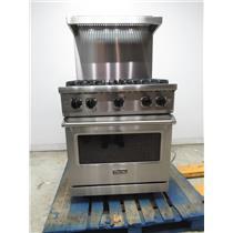 "Viking Professional 5 Series 30"" Freestanding Stainless Gas Range VGR5304BSSLP"