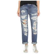 28 NWT Current/Elliott The Fling Boyfriend Crop Jeans Westward Destroy w/Repair