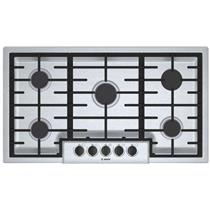 Bosch 500 Series 36'' Gas Cooktop Sealed Burners Stainless Steel NGM5656UC