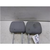 2005 - 2007 FORD F350 F250 CREW CAB REAR SEAT (GREY) CLOTH HEAD RESTS
