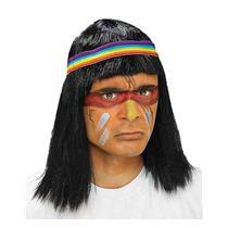 Forum Native American Black Indian Brave Wig