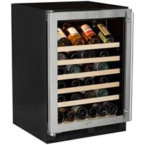 "Marvel 24"" 45-Bottle Capacity Built-In Single Zone Wine Refrigerator ML24WSG0LS"
