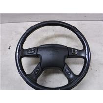 2003 - 2005 GMC 2500 3500 BLACK STEERING WHEEL CRUISE STEREO OEM