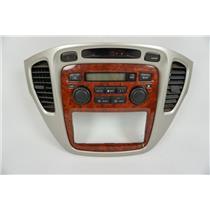 06 07 Toyota Highlander Center Dash Radio Climate Bezel Auto Climate Control