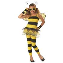 Yellow and Black Little Honey Bee Child Costume Large Plus 10-12