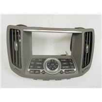 07-08 Infiniti G35 08-13 G37 Center Dash Radio Climate Bezel with NAV Controls