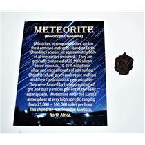 MOROCCAN Chondrite Stony METEORITE - ONE - Size (S) 1 1/2 to 3 gram