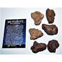 "MOROCCAN Chondrite Stony METEORITE ""B"" Grade Lot 200-250 grams 16o"
