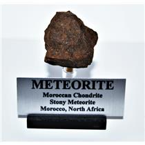 Moroccan Chondrite 58.8 grams w/Acrylic Display Stand, Label, COA #14307 7o