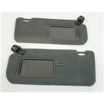 11-15 Kia Sorento Sun Visor Set Pair Covered Mirrors Extension Panels Black