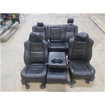 2008-2010 Ford F250 F350 Lariat FX4 Black seats + centre console as31257