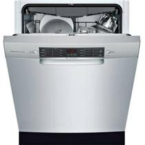 "Bosch 800 Series 24"" 44 dBA 15 Setting Full Console Dishwasher SGE68X55UC IMGS"