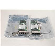 LOT of 2 HP NC364T 435506-003 436431-001 Quad Port Gigabit Adapter