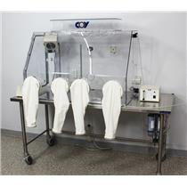 Coy Labs Humidity Control Dry Glove Box 2-Person w/ Desiccant & Dry Gas Purge