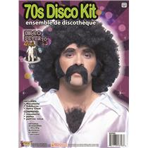 70's Disco Mustache Burns Chest Instant Disguise Hair Kit For Adults