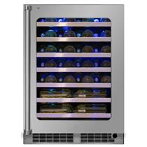 "Marvel 24"" 5.2 Cu. Ft Stainless Steel Single Zone Wine Refrigerator MP24WSG0RS"