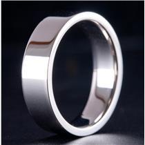 Palladium Comfort Fit Flat Band Style Wedding / Anniversary Ring 9.1g Size 9.5