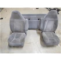 1994-1996 Ford F350/F250 7.3L Powerstroke grey cloth seats as31259