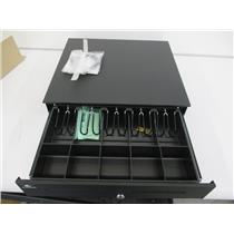 APG JB554A-BL1816-C Cash Drawer USBPRO, BLACK, PAINTED FRONT 18X16 2 MEDIA SLOTS