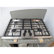 "Bosch 500 Series 30"" Natural Gas 4 Sealed Burner Low-Profile Cooktop NGM5055UC"