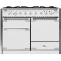 "AGA Elise 48"" WHT Multi-Function European Convection Dual Fuel Range AEL48DFWHT"