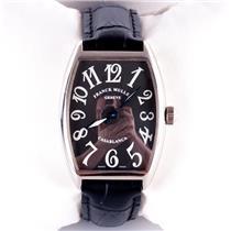 Frank Muller 18k White Gold Casablanca Men's Wrist Watch W/ Calfskin Band