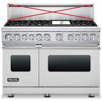 "Viking Professional 7 Series 48"" 6 Burner Stainless Dual-Fuel Range VDR7486GSSLP"