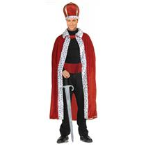 Red King Robe and Crown Adult Costume