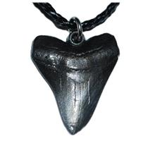 Megalodon Shark Tooth Necklace (Metal Replica)  1 1/2 inch  #10166 2o