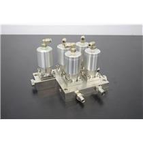 Swagelok 6LVV-MSM-DP-2-P-C StainlessSteel 2-Port Diaphragm Sealed Valve Manifold