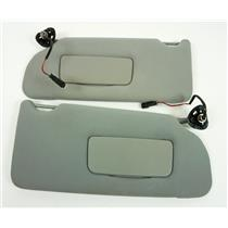 2005-2009 Buick Lacrosse Sun Visor Set Covered Lighted Mirrors Adjust Bars