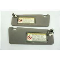 04-06 ES330 Sun Visor Set Lighted Mirrors Adjust Arms 2002-2003 Lexus ES300