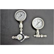 2 McDaniel Gauges Oxygen Service and Oil w/Regulator both 2.25inch Face Warranty