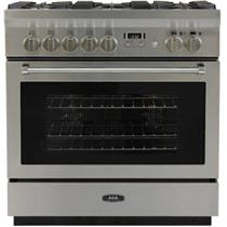 AGA Professional Series 36 Inch SS Freestanding Dual Fuel Range AMPRO36DFSS