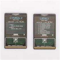 Korg DDC-D02 Cymbal 2 & DDC-B02 Latin 2 ROM Memory Cards #36824