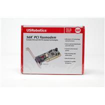 New US Robotics 5670 56K PCI Faxmodem V.92 and V.90