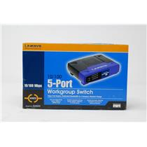 New Linksys EZXS55W 10/100 5-Port Workgroup Switch