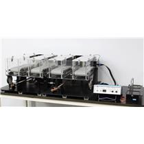 4-Lane Columbus Instruments Rodent Treadmill w/ Simplex II Controller & Shocker
