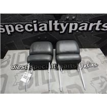 2003 - 2006 GMC 2500 SLT CREWCAB OEM SEAT HEAD RESTS GREY LEATHER OEM