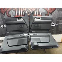 2007 - 2017 FORD EXPEDITION MAX LTD DOOR PANELS WOOD GRAIN BLACK SWITCHES OEM