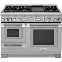 "Thermador 48"" Pro Grand Stainless Steel Home Connect Dual Fuel Range PRD48WDSGU"