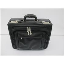 "MCKLEIN 8466 SHERIDAN 17"" Leather Patented Detachable -Wheeled Catalog Briefcase"