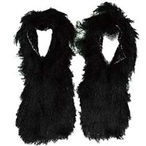 Black Hairy Shoe Covers Monster Costume Accessory