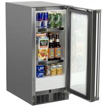 Marvel 15 Inch Built-in Outdoor Refrigerator MO15RAS2RS  with 2.9 cu ft Capacity